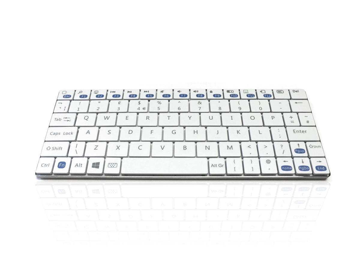 Accuratus Minimalist Ultra Sleek Mini Bluetooth Wireless Keyboard For Pc White Qw