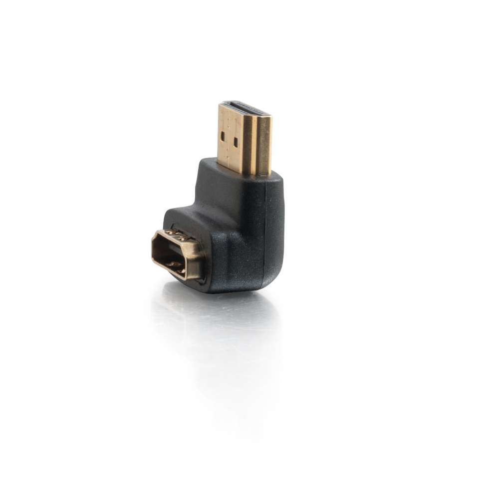 C2G HDMI Male to HDMI Female 90 Degree Down Adapter - Black (80562)