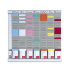 Nobo T-Card Planning Kit - Office Planner 8 columns 24 slots