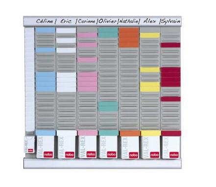 Nobo T-Card Planning Kit - Office Planner 8 columns 24 slots