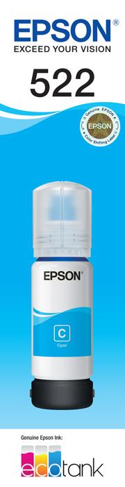EPSON 522 Cyan Ink Bottle - ET-2710
