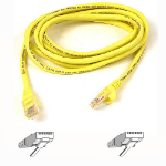 Belkin Patch Cable CAT5 RJ45snagl yellow0.5m 0.5m Yellow networking cable
