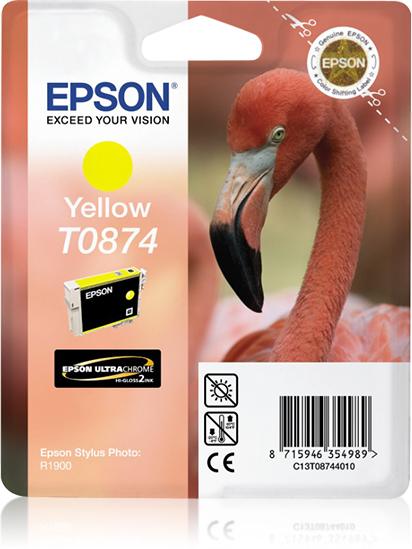Epson Flamingo inktpatroon Yellow T0874 Ultra Gloss High-Gloss 2
