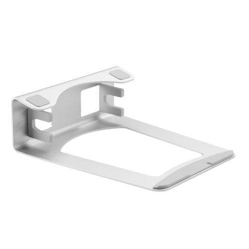 StarTech.com Laptop Stand - 2-in-1 Laptop Riser Stand or Vertical Stand - Ideal for Ultrabooks & MacBook Pro/Air - Ergonomic Angled Notebook Holder for Office Desk - Silver, Aluminum