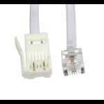 Cables Direct 2m RJ11 - BT Plug 2 Wire White