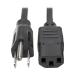 Tripp Lite P006-002-13A 0.61m NEMA 5-15P C13 coupler Black power cable