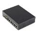 StarTech.com Switch Conmutador Industrial Ethernet Gigabit 6 Puertos - 4x RJ45 PoE - 2 Ranuras SFP PoE+ de 30W 48VDC DIN (IES1G52UPDIN)