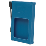"Manhattan Drive Enclosure, 2.5"", USB-A, 480 Mbps (USB 2.0), SATA, Blue, Silicone, Windows or Mac, Blister"