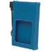 "Manhattan Drive Enclosure, 2.5"", USB-A, 480 Mbps (USB 2.0), SATA, Blue, Silicone, Windows or Mac, Blister"