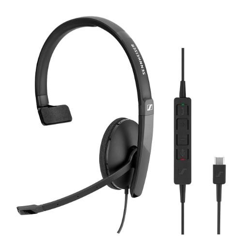 Sennheiser SC 130 USB-C Monaural Head-band Black