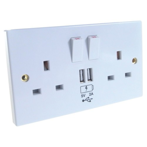 Group Gear 27-2000 socket-outlet White
