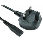 Cables Direct RB-298WH power cable Black 2 m C7 coupler