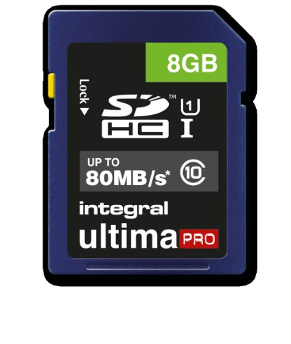 Integral 8GB SD CARD SDHC CL10 80 MB/S ULTIMAPRO