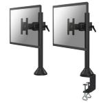 """Newstar Tilt/Turn/Rotate Desk Mount (clamp & grommet) for 10-30"""" Monitor Screen, Height Adjustable - Black"""