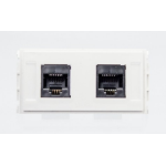 VivoLink WI221283 socket-outlet 2 x RJ-45 White