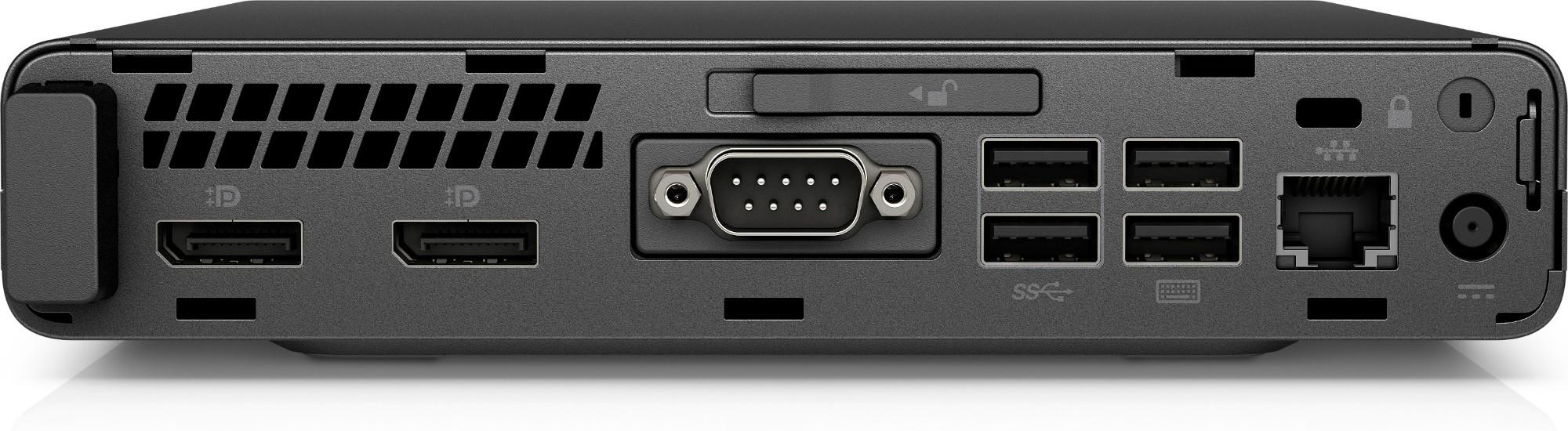 HP ProDesk 600 G3 2 70 GHz 7th gen Intel® Core™ i5 i5-7500T Black,Silver  Mini PC