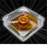 Akasa 9.2cm Amber Series Case Fan