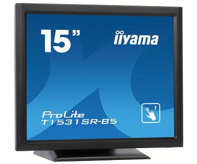 "iiyama ProLite T1531SR-B5 touch screen monitor 38.1 cm (15"") 1024 x 768 pixels Black"