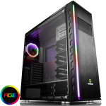 GAMEMAX Precision Full Tower Gaming Case Tempered Side RGB Controller Double Rainbow Ring