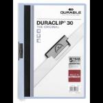 Durable Duraclip 30 report cover Light Blue, Transparent PVC