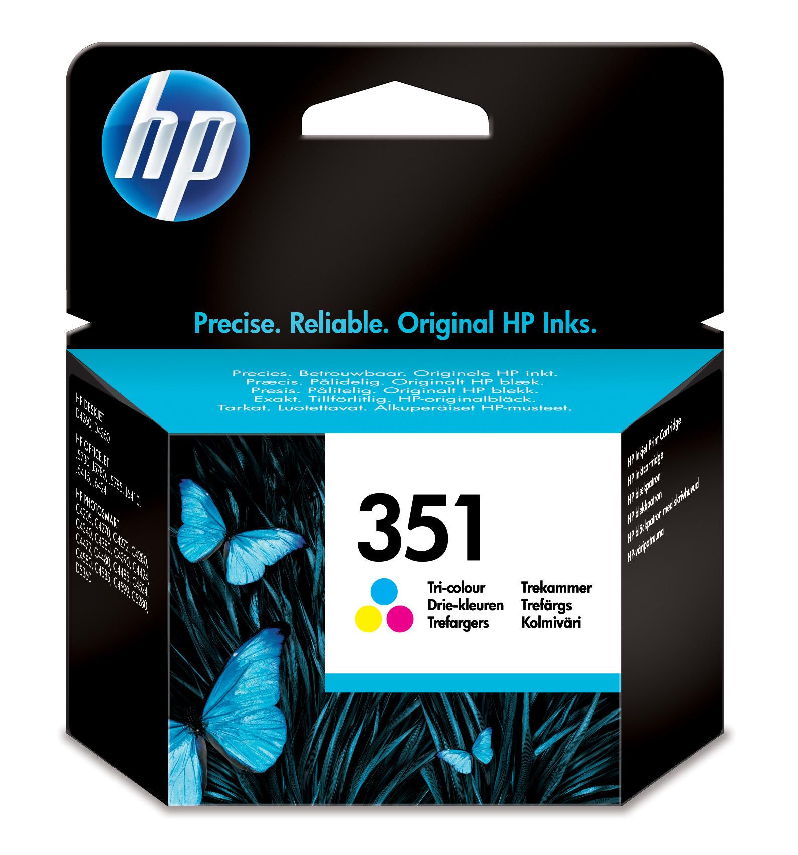 HP 351 Tri-color Inkjet Print Cartridge Original Cian, Magenta, Amarillo 1 pieza(s)