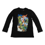 TEENAGE MUTANT NINJA TURTLES (TMNT) Kids Donnie, Raph, Leo and Mikey T-Shirt, 104/110CM, Black (TSY30857TNT-104)