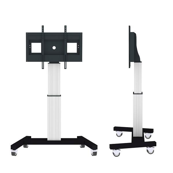 "Newstar PLASMA-M2500SILVER 100"" Portable flat panel floor stand Black,White flat panel floorstand"