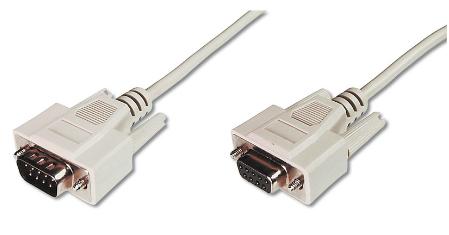 ASSMANN Electronic AK-610203-020-E seriële kabel Beige 2 m DB9