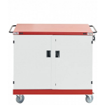 LapSafe Mentor Portable device management cart Red,White