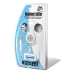Maxell Headphone Splitter for iPod White audio cable