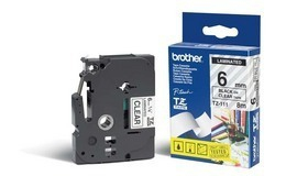 Brother TZE-111 P-Touch Ribbon, 6mm x 8m