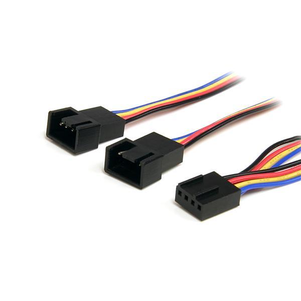 StarTech.com 12in 4 Pin Fan Power Splitter Cable - F/M FAN4SPLIT12