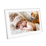"Denver PFF-1011WHITE digital photo frame 25.6 cm (10.1"") Touchscreen Wi-Fi Black"