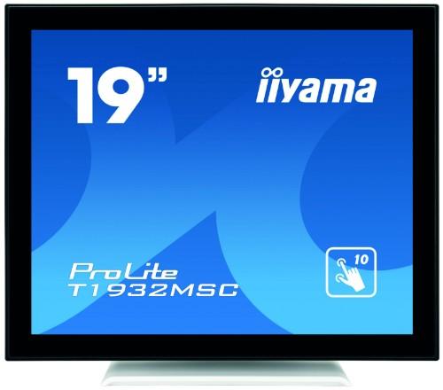 "iiyama ProLite T1932MSC-W5AG touch screen monitor 48.3 cm (19"") 1280 x 1024 pixels Black,White Multi-touch Multi-user"