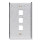 Black Box WP372 wall plate/switch cover Stainless steel