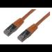 MCL FCC6BM-3M/O cable de red Naranja
