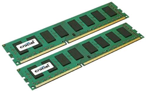 Crucial CT2K25664BD160B módulo de memoria 4 GB 2 x 2 GB DDR3 1600 MHz