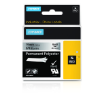 DYMO 18487 Black on metallic label-making tape