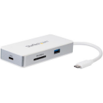StarTech.com USB-C Multiport Adapter - SD (UHS-II) Card Reader - Power Delivery - 4K HDMI - GbE - 1x USB 3.0