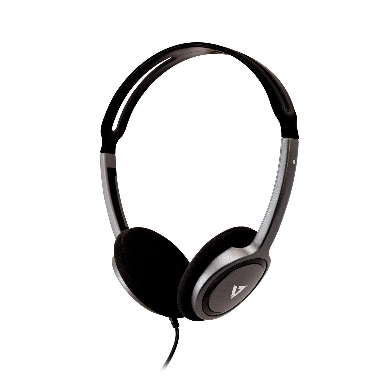 V7 HA310-2EP auricular y casco Auriculares Diadema Negro, Plata