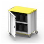 NUWCO PlasCart Portable device management cabinet Grey, Yellow