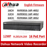 Dahua Europe Pro NVR5208-8P-4KS2E network video recorder Black