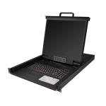 "StarTech.com RKCONS1908K rack console 48.3 cm (19"") 1280 x 1024 pixels Black 1U"
