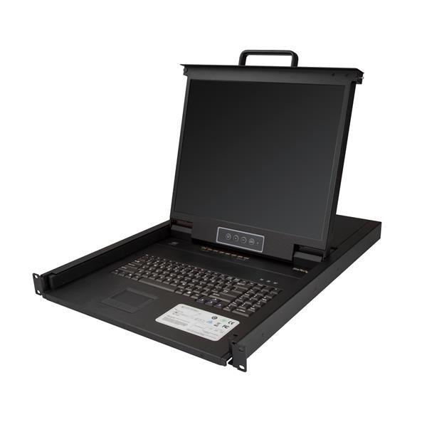 StarTech.com Consola para Armario Rack con KVM de 8 Puertos VGA y Pantalla LCD de 19 Pulgadas - 1U