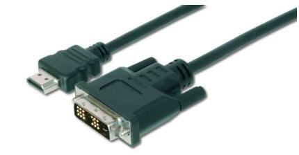 ASSMANN Electronic AK-330300-030-S adaptador de cable de vídeo 3 m HDMI DVI-D Negro