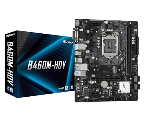 Asrock B460M-HDV motherboard LGA 1200 micro ATX Intel B460
