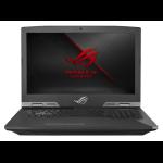"""ASUS ROG G703GX-XB96K notebook Metallic 17.3"""" 1920 x 1080 pixels 9th gen Intel® Core™ i9 i9-9980HK 32 GB DDR4-SDRAM 1024 GB SSD"""
