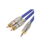 EXC 109512 audio cable 5 m 3.5mm 2 x RCA Metallic, Purple