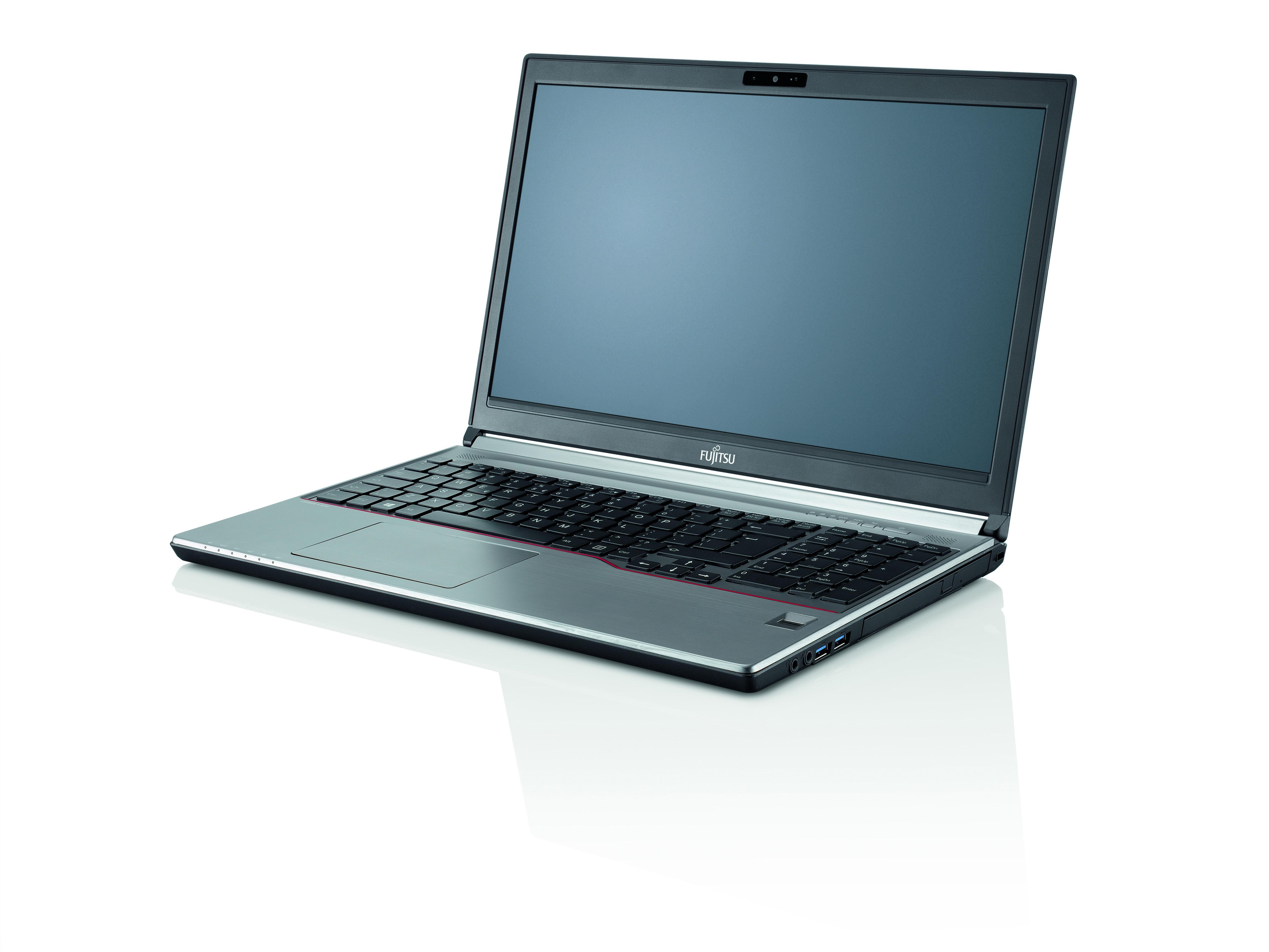 """Fujitsu LIFEBOOK E756 2.5GHz i7-6500U 15.6"""" 1920 x 1080pixels Black,Silver"""