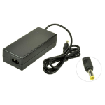 2-Power AC Adapter 19V 3.75A 75W inc. mains cable power adapter/inverter